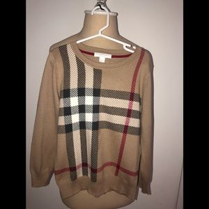 Gently Used Boys Burberry Sweater size 6